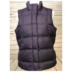 Eddie Bauer Goose Down Medium Puffer Vest Purple